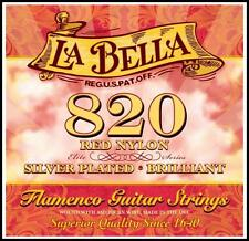 La Bella 820 Elite Red Nylon / Silver Plated Flamenco Guitar Strings LaBella