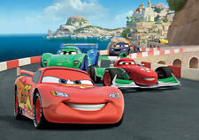 Giant paper wallpaper 368x254cm Cars Race - Disney wall mural kids room decor