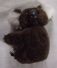Lot of 8 Vintage 3 inch Koala Bear Plush Pinch Clips Korea Chocolate Brown