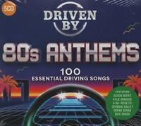 DRIVEN BY 80S ANTHEMS - DURAN DURAN NEW ORDER A-HA SONIA ROXETTE - 5 CDS - NEW!!