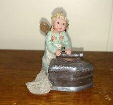 Sarah's Attic Labor of Love Ironing Small Girl Angel Figurine Sao 1994
