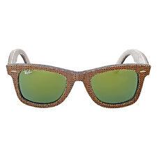Ray-Ban Original Wayfarer Denim Green Mirror Sunglasses RB2140 11912X 50