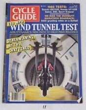CYCLE GUIDE Rare Motorcycle MAGAZINE Jan 1985 WIND TUNNEL TEST RARE Cover Issue