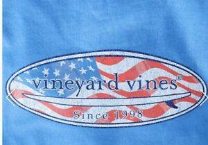 NWT Vineyard Vines Boys S/S USA Flag Surfboard Pocket T-Shirt Size 5