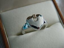 Clogau Silver & 9ct Welsh Gold Cariad Heart Ring size J RRP £129.00