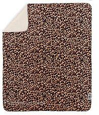 New Victoria's Secret Pink Leopard Cheetah Sherpa Faux Fur Large Blanket NIP