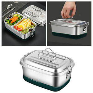 Stainless Bento Lunch Box Kids Metal Large Capacity Office School for Picnic