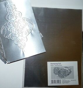 STAMPING FOIL Embossing Craft Metal 10 x A5 size sheets