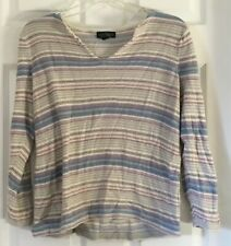 NWT $130 LAUREN JEANS CO Long Sleeve Pullover Sweater Sz LARGE Red Multi-color