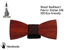 Wooden HandMade Clip-on Mens Fashion Bow Tie Party Wedding Fancy Dress