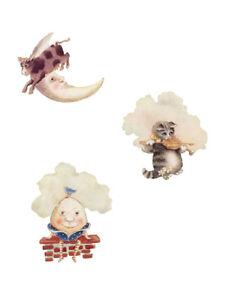 Pitter Patter Nursery Humpty Dumpty Cow Moon 25 Wallies Decals Stickers Wall Art