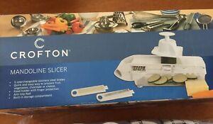 Crofton Mandoline Slicer 5 Blades New