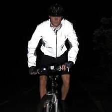 "Reflective High Visibility Cycle Cycling Hi Viz Windproof Jacket 50"" Chest XXL"