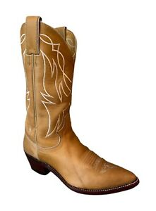 Justin Boots Justin Cowboy Boots 2453 Tan Leather Cowgirl Boots - Women's 6.5B