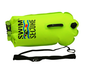 Swim Secure Dry Bag 28 Litre - CITRUS - Safer Open Water Swimming High Viz *NEW*