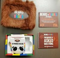 Bears vs Babies Makers of Exploding Kittens Party Replacement Cards Monster Game