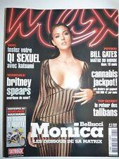 Magazine / revue MAX french #160 mai 2003 Monica Bellucci