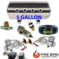 5 Gallon Air Tank 8pt compressor filter trainhorn air suspension BDPSW xzx
