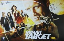 SDCC EXCLUSIVE WB HUMAN TARGET CAST SIGNED x4 POSTER WONDERCON COMIC-CON