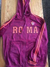 Womens 3XL AS Roma Full Zip Up Hoodie Football Soccer NWOT