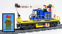 LEGO 60198 Train Carriage Flatbed Rotating Crane Cargo Freight Wagon & Minifig