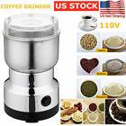 Portable Electric Coffee Grinder Beans Nut Grind Spice Crusher Mill Blender Cafe