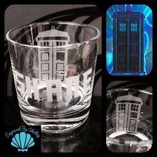 Tardis Doctor Who whisky TUMBLER REGALO UNICO! liberi nome INCISIONE PERSONALIZZATA!