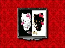 HELLO ANGEL DEVIL KITTY CAT KAWAII MAKEUP POCKET COMPACT MIRROR