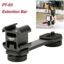 PT-3 Microphone Extension Bar 3 Cold Shoe Mounts L Bracket for Zhiyun DSLR Nikon