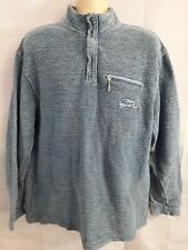 Mens Faded Blue Top Jumper Pullover Weird Fish Knitwear Size M waffle