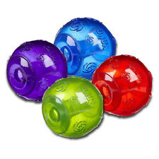 KONG Squeezz Ball Gr. L 8 cm Hundespielzeug Hundeball Quietsche Robust Hund