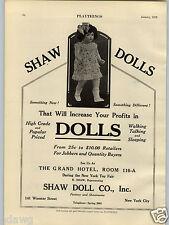 1928 PAPER AD The Shaw Doll Co Walking Talking Sleeping