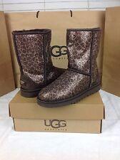 UGG Australia Women's Glitter Classic Short Brown Leopard Color U.S Size 7 CUTE!