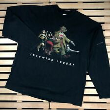 Mens Sweatshirt Long Sleeve Vintage Throwing copper 1995 Live Size L