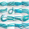 1 Strand Blue Turquoise Gemstone Spacer Loose Beads Charm Findings 15''