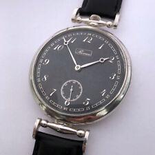 Rare Big Swiss ANTIQUE Wristwatch REVUE Silver case