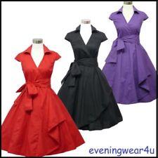 Rockabilly Short Sleeve Dresses Midi