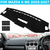 For Mazda 6 M6 2002-2007 Car Dashmat Dashboard Carpet Cover Dash Mat Protector