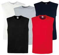 Fruit of the Loom Smart Fit Cotton Mens Gym Vests Tank Top S-2XL