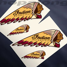 Retro style 'Indian' Sticker Decals (x4)