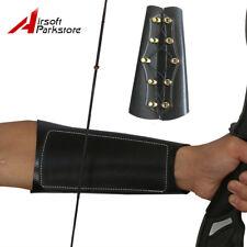 Archery Cow Leather Protective Arm Guard Bracer Armlet Arrow Recurve Bow Black