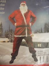 Red Father Christmas Santa Suit 5 Pieces Christmas Fancy Dress Costume One size