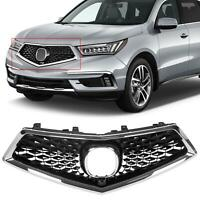Front Grille Assembly Kit Chrome +  Painted FOR Acura MDX 5-DOOR 17 18 19 20