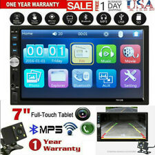 2 DIN Car MP5 Player Touch Screen Stereo Radio Audio HD W/ Free Backup Camera HD