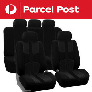1set Black Universal Auto Seat Cover Full Styling Seat Cover For Car Truck Suv