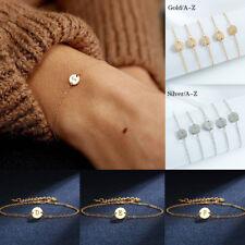 26 Letter A-Z Women Stainless Steel Bracelet Gold Silver Bangle Fashion Jewelry