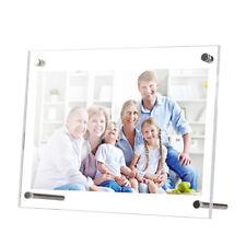 "5""x7"" High Transparency Frameless Acrylic Photo Frame Display Kickstand Support"