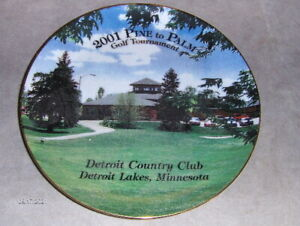 2001 Vintage Pine to Palm Golf Plate With List of Champions Detroit Lakes MN