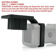 """2"""" Rubber Trailer Hitch Tube Cover Plug Receiver for Toyota Jeep Mercedes 1PC"""