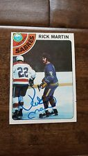1978-79 TOPPS SIGNED CARD RICK MARTIN BUFFALO SABRES KINGS FRENCH CONNECTION 80